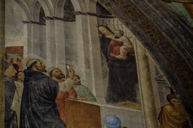 Miracle of the False Madonna Painting in Milan.
