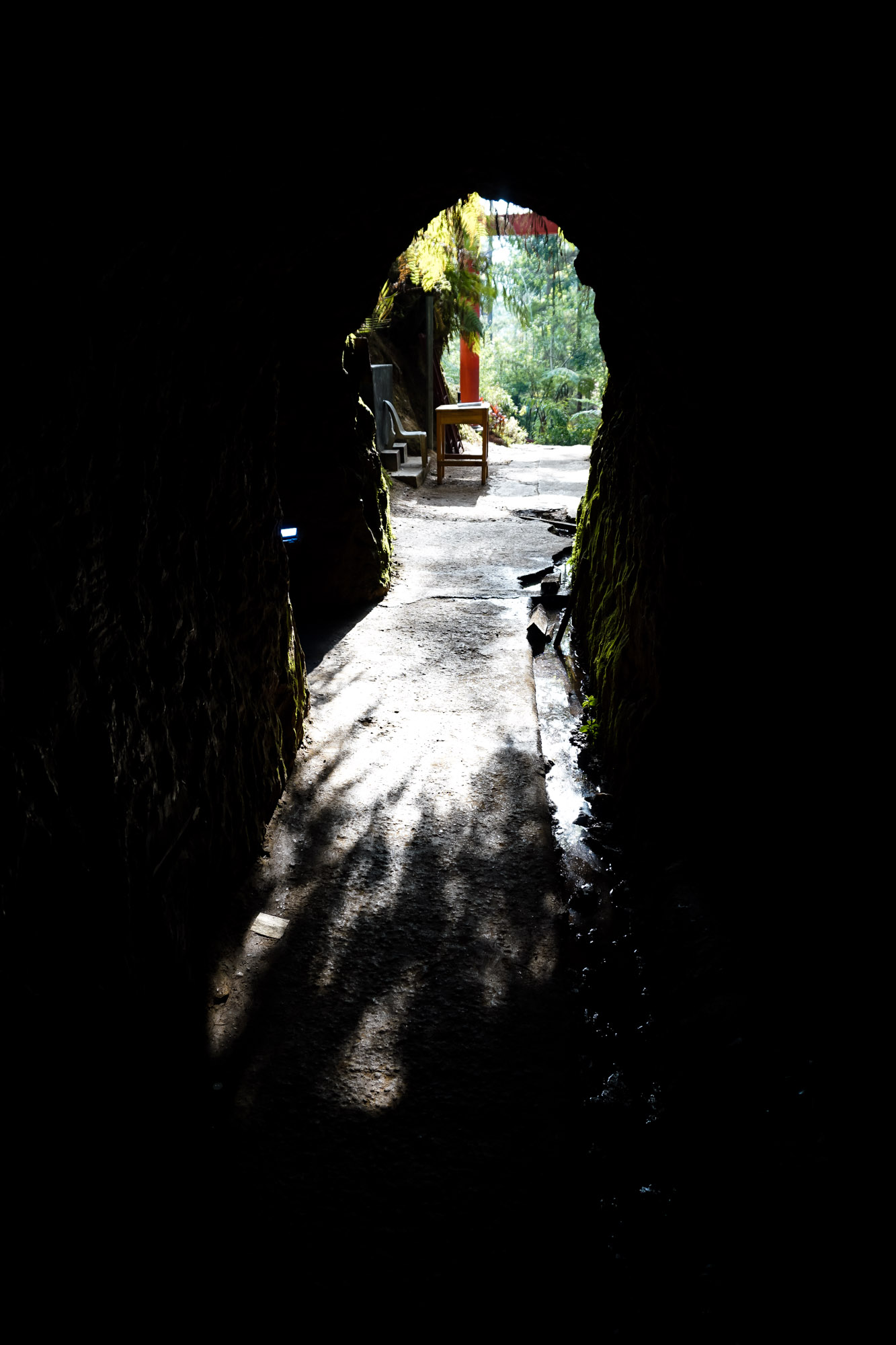 Baguio haunted tunnel.