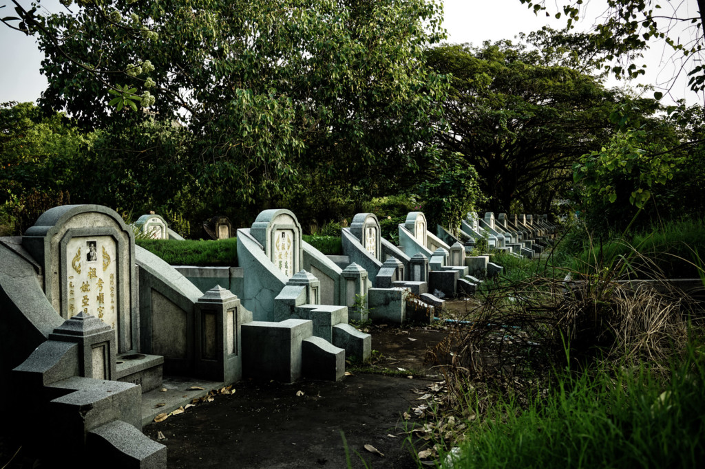 Graves in haunted Teochew Cemetery.