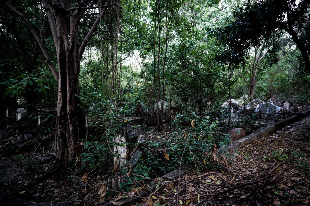 Haunted Teochew Cemetery in Bangkok, Thailand.