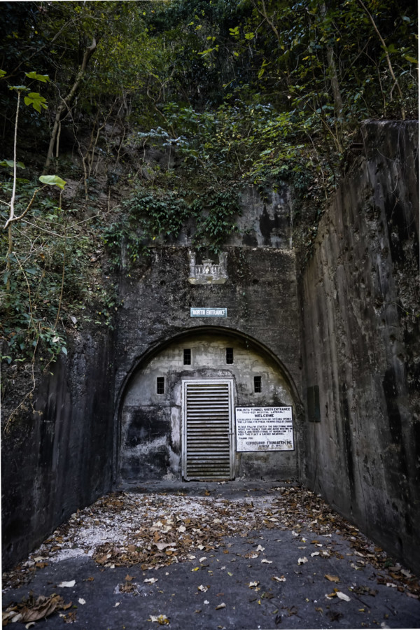 Small entrance to the Malinta Tunnel underground system.