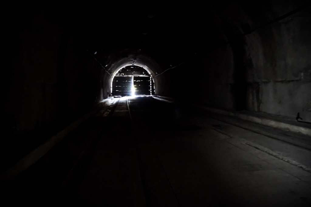 Inside the darkness of the haunted Malinta Tunnel.