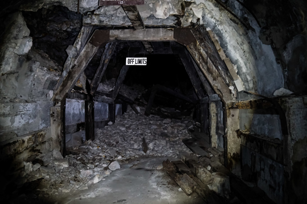 Inside the haunted Malinta Tunnel in the Philippines.