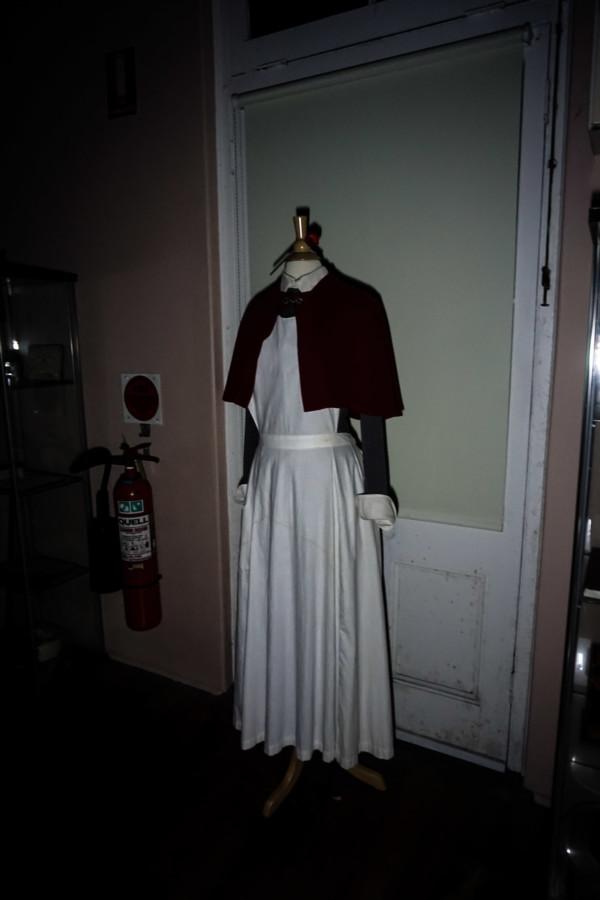 Nurse uniform in hospital of Q Station.