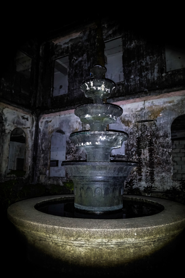 Fountain of the Diplomat Hotel.