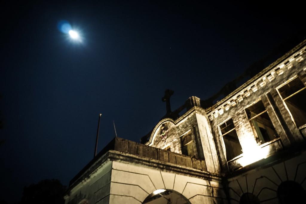 Full moon over Old Diplomat Hotel