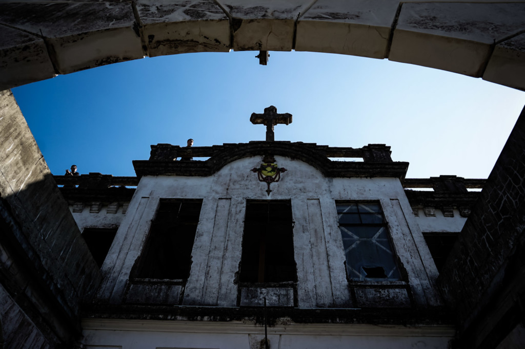 Cross on top of Old Diplomat Hotel, Philippines.