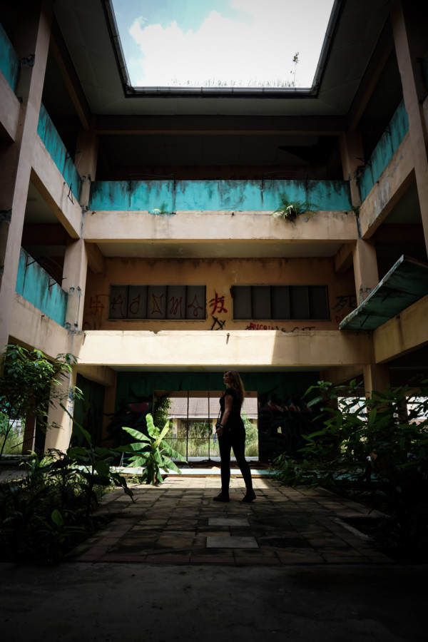 Abandoned haunted school in Malaysia.