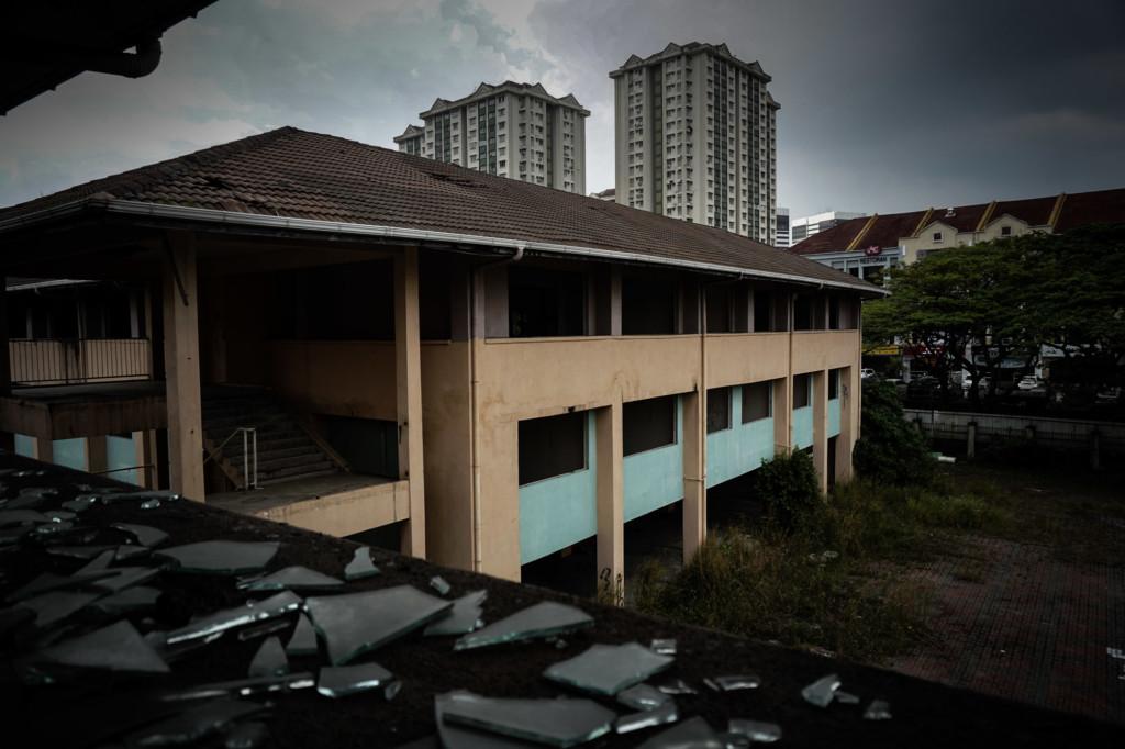 Abandoned school in Kuala Lumpur, Malaysia.