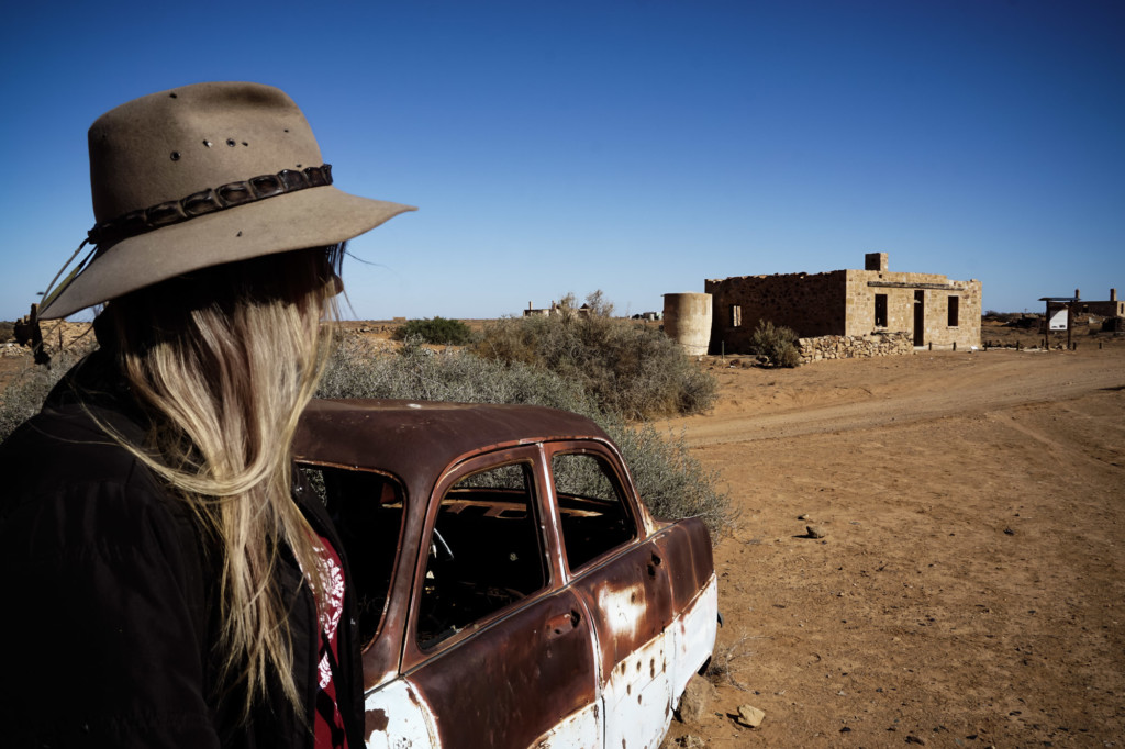 Australian outback ghost town.