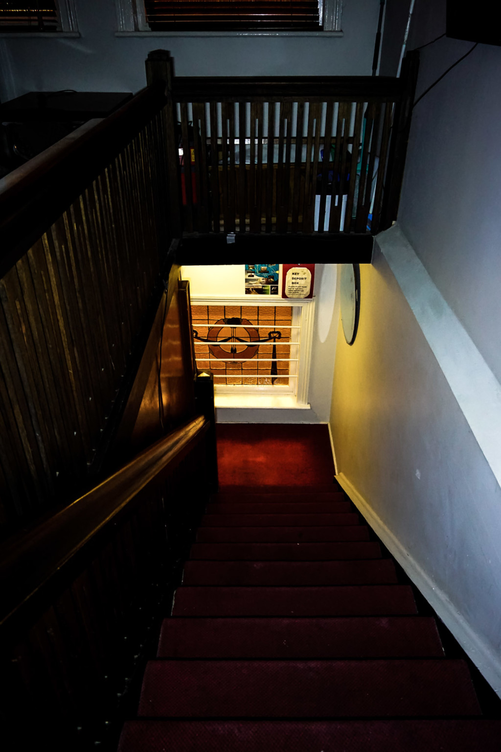 Staircase where ghosts have been seen.