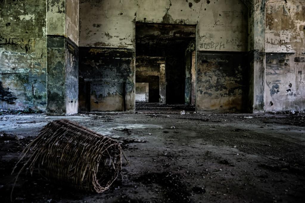 Inside the Mile-long Barracks.