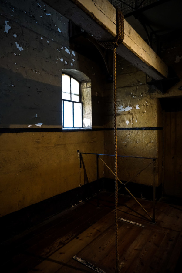 Hanging beam at Old Melbourne Gaol.