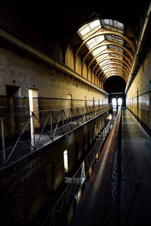 Historic jail in Melbourne, Australia.