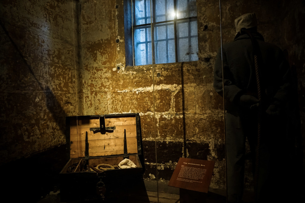 Execution display at the Old Melbourne Gaol.
