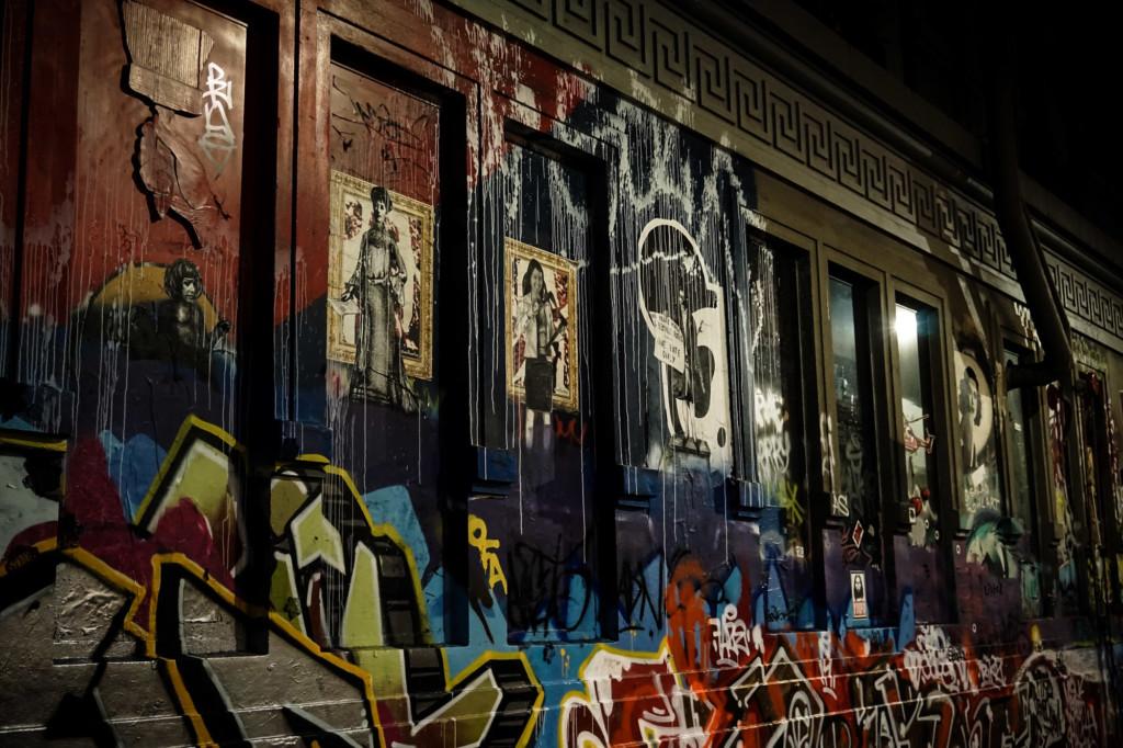 Street art of Hoiser Lane Melbourne, Australia.