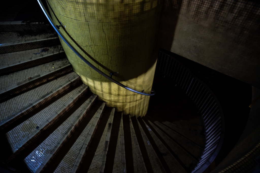 Spiral stairs of the Amber Beacon Tower.