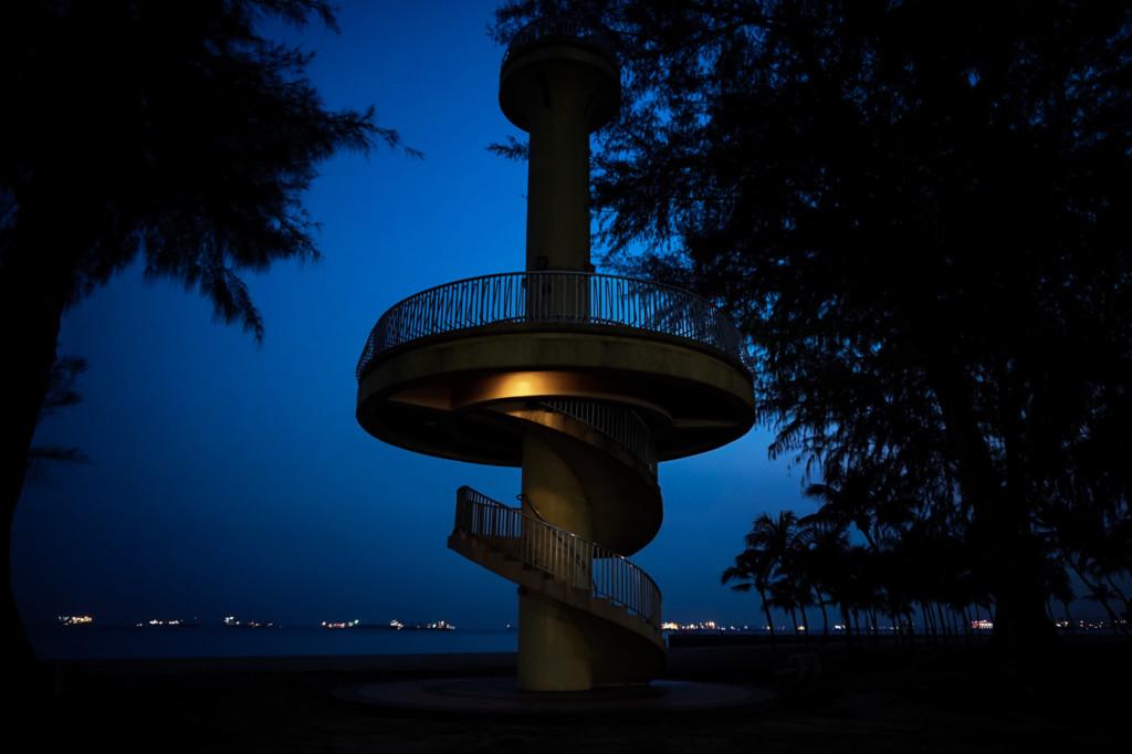 Haunted Amber Beacon Tower, Singapore.