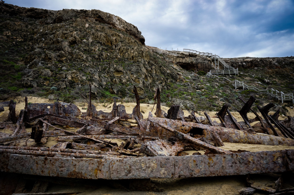 Shipwreck on coast of South Australia.