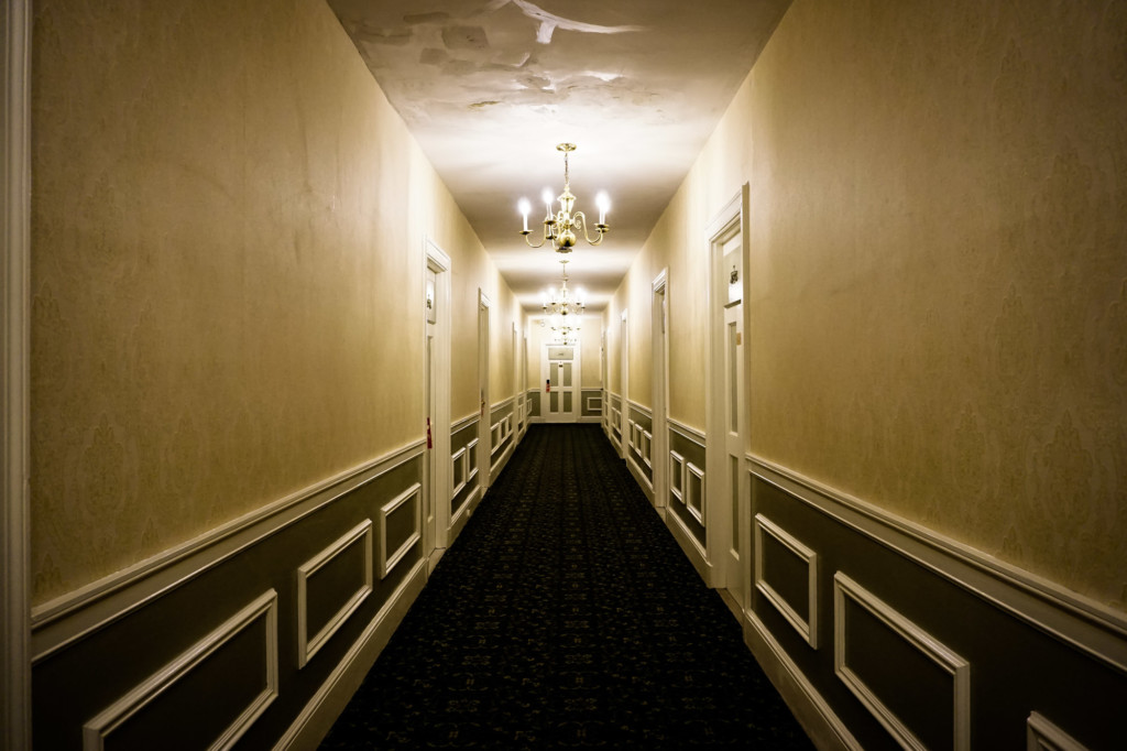 One of the Hawthorne Hotel's haunted hallways.