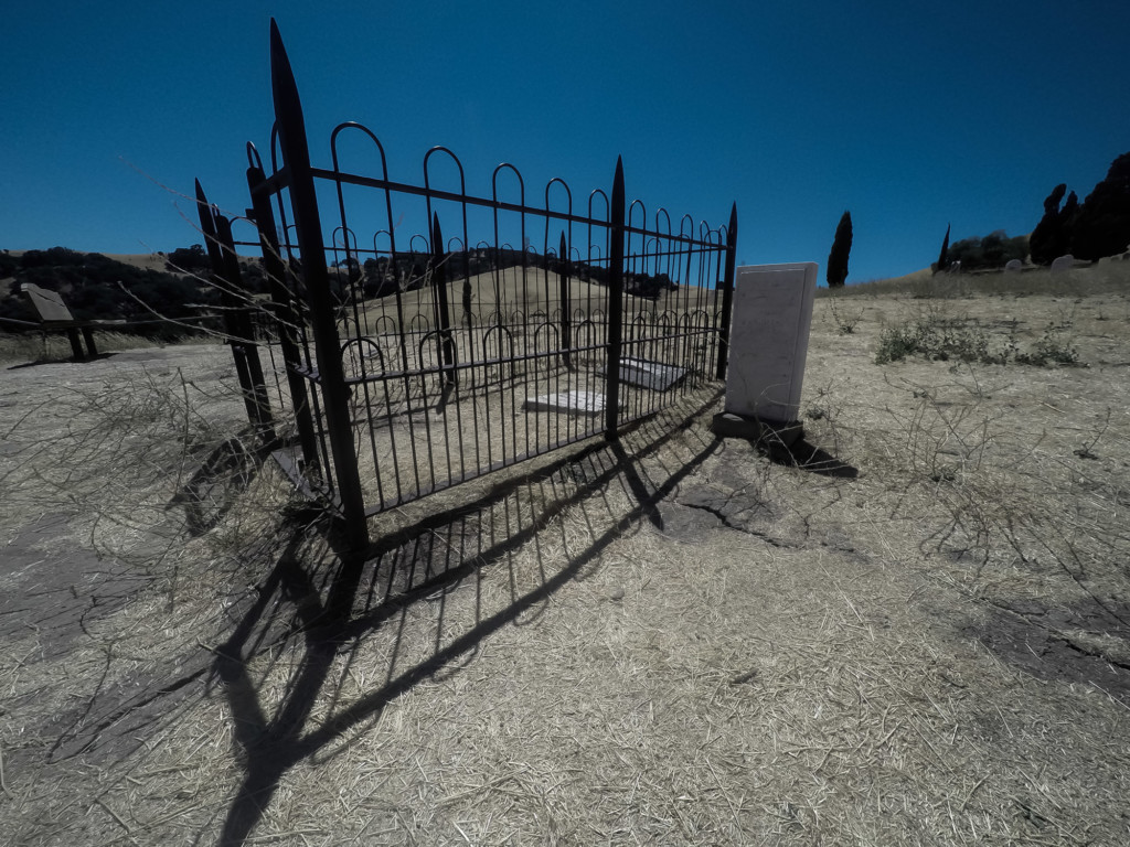 Ghost town cemetery graves.