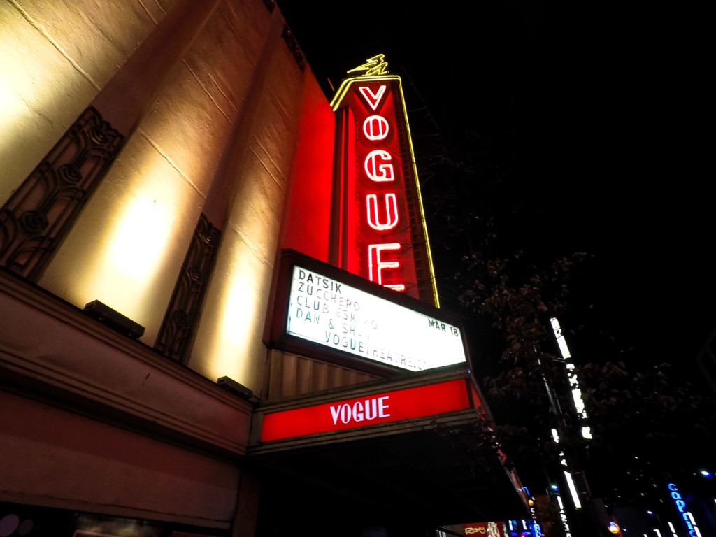Haunted Vogue Theater in Vancouver, Canada.