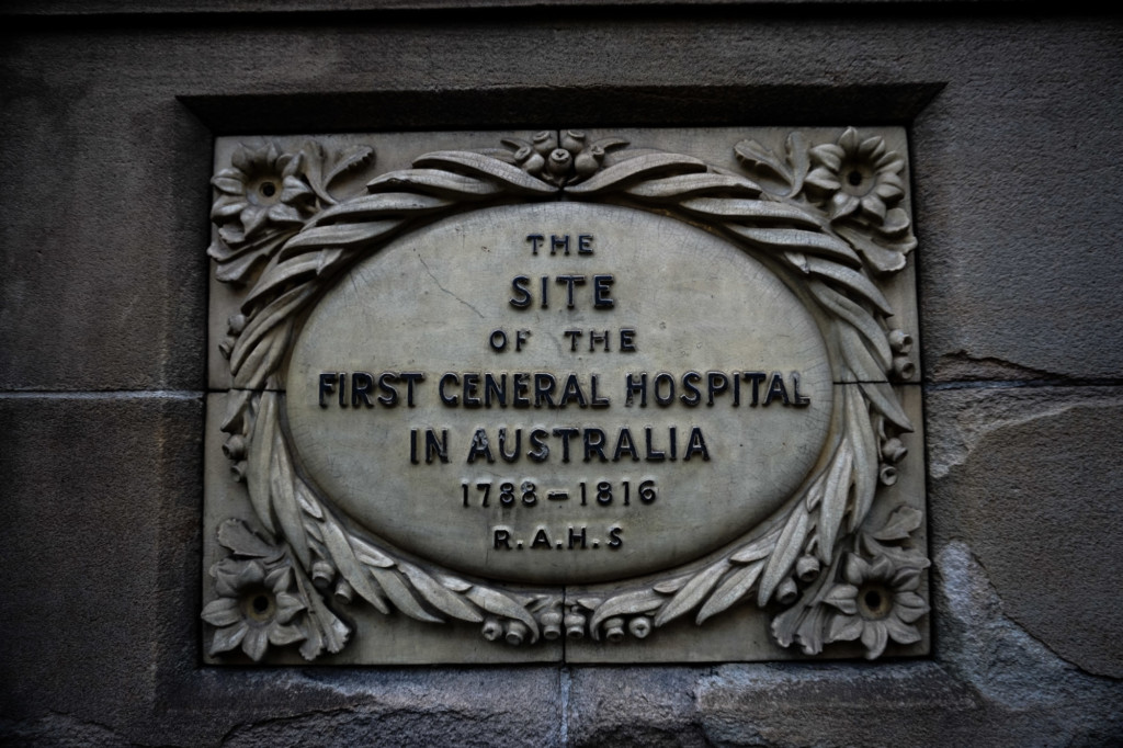 The place where Australia's first general hospital stood.