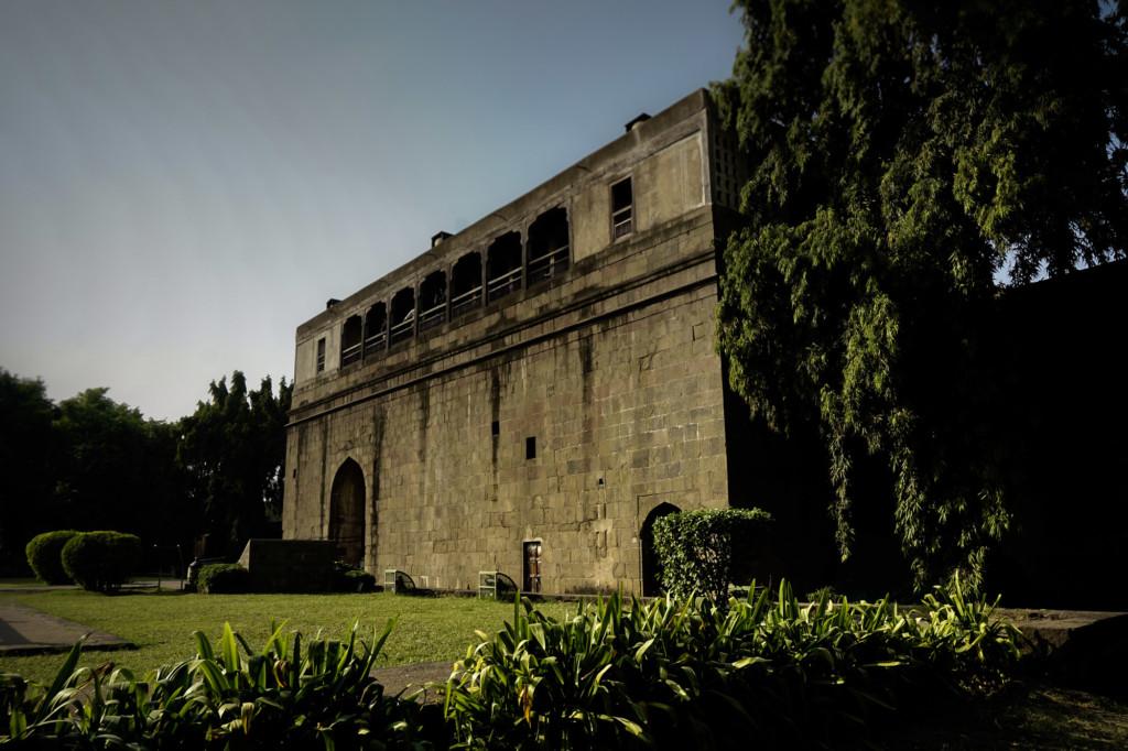 Garden inside of Pune's Shaniwar Wada Fort.
