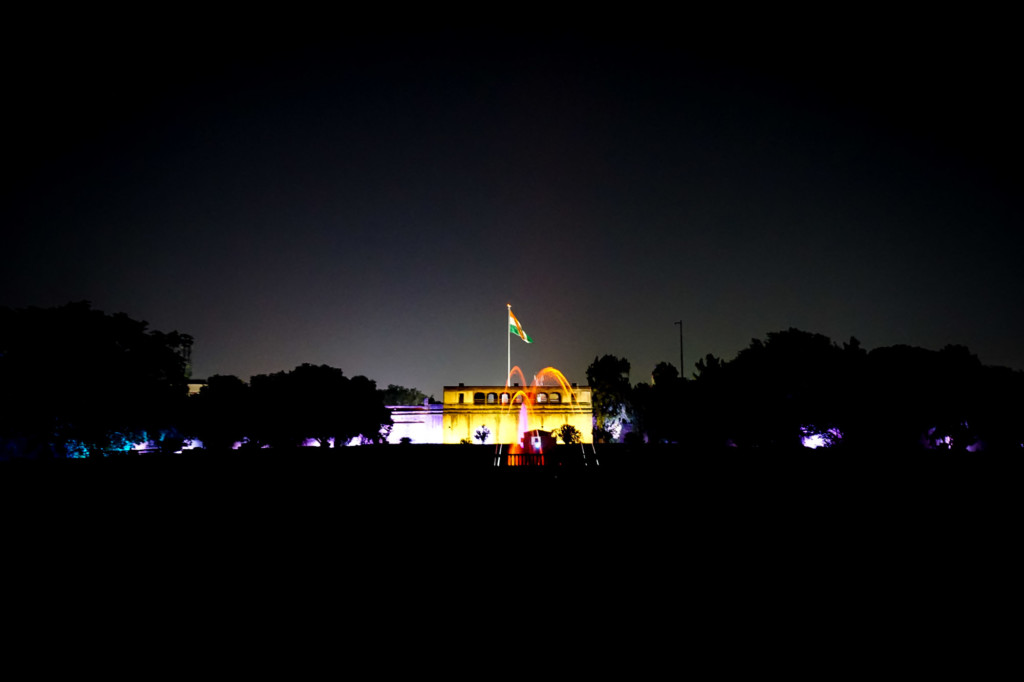 Light and sound show in Pune, India.