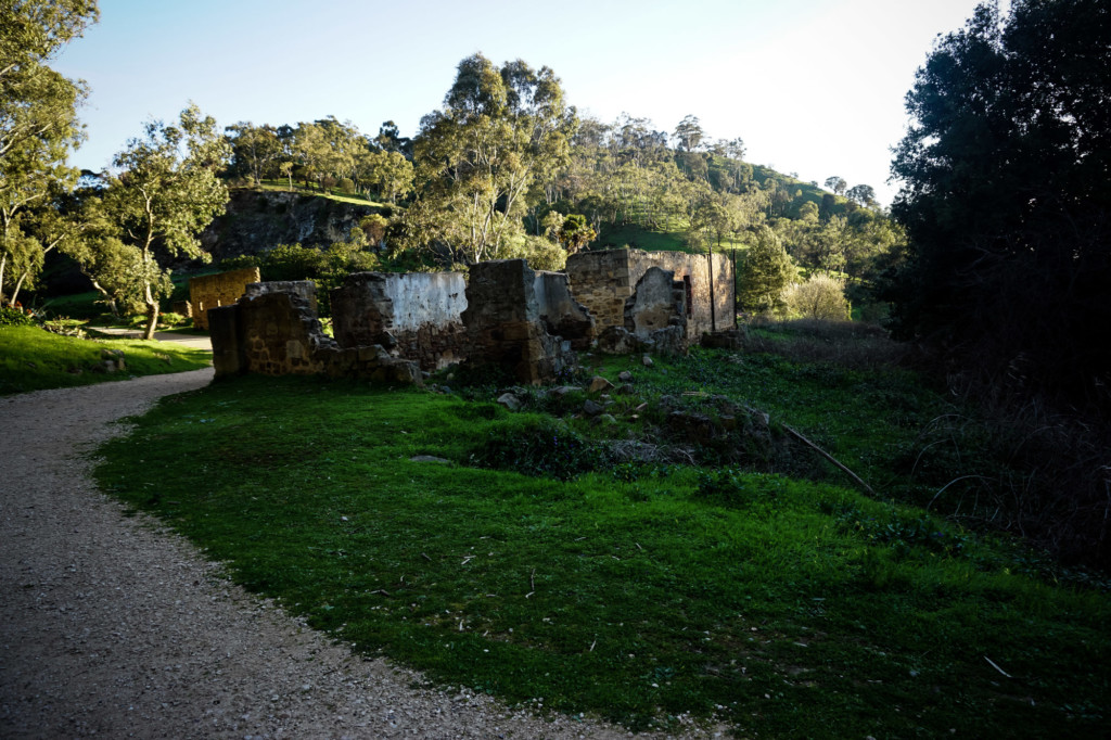 Haunted ruin on Anstey Hill in South Australia.