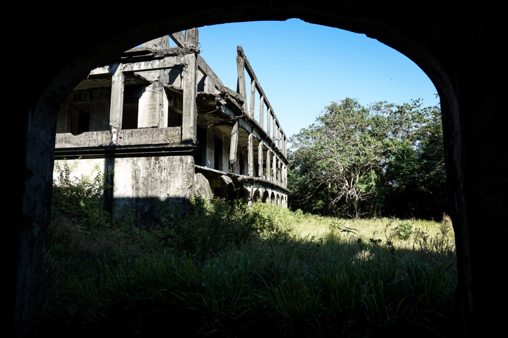 Ruins of an old WWII hospital on Corregidor Island in the Philippines.