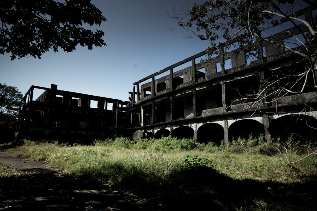 The old military hospital on Corregidor Island.