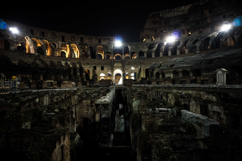 Colosseum at night and its ghosts.