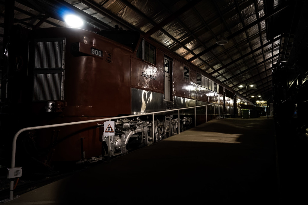 Haunted trains inside museum in South Australia.