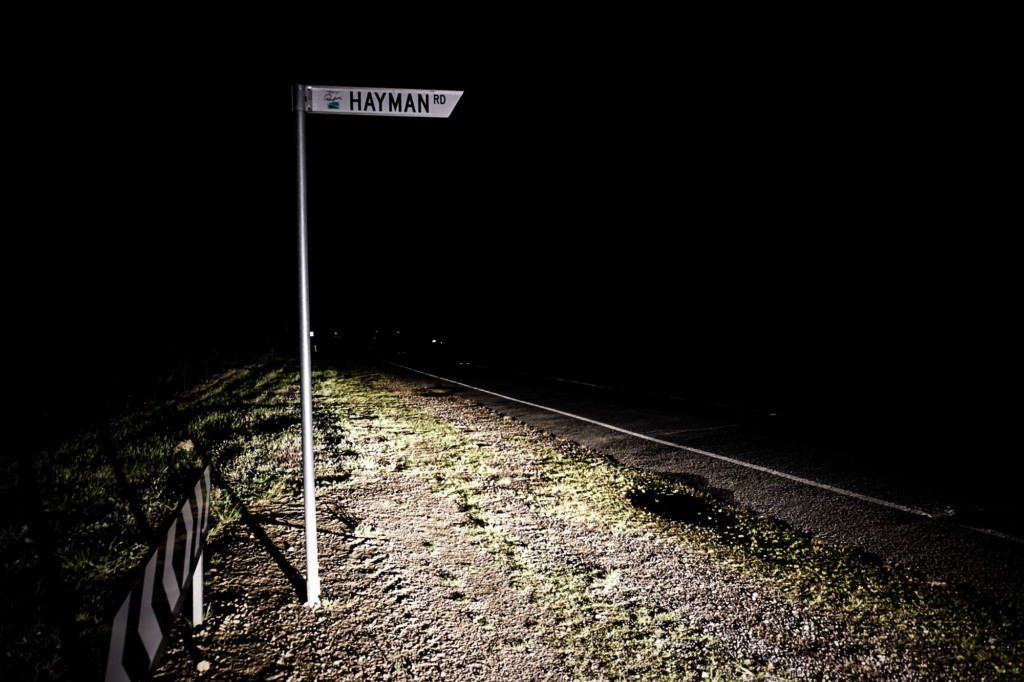 Spooky and haunted Hayman Road in South Australia.