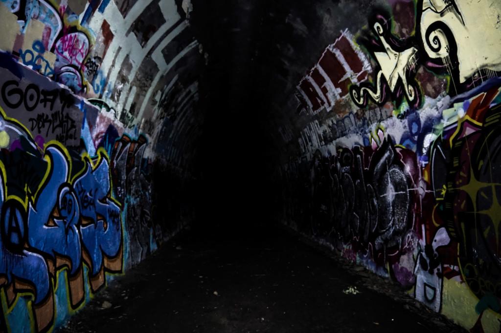 Haunted train tunnel in Australia.