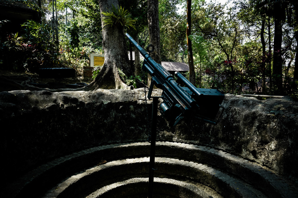Large gun at the Penang War Museum.