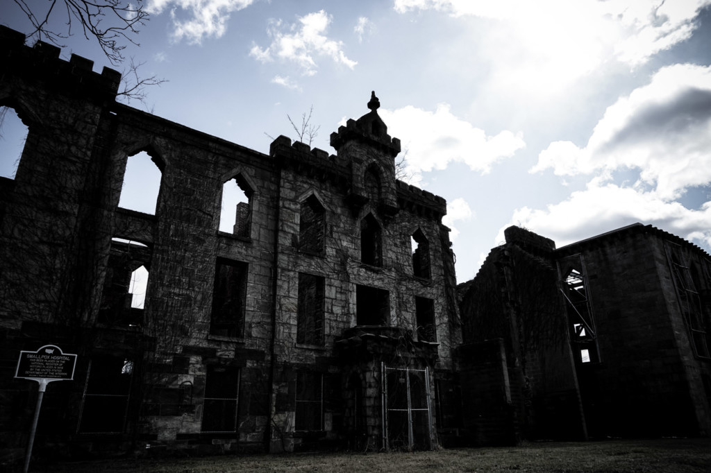 Abandoned haunted hospital in New York City.