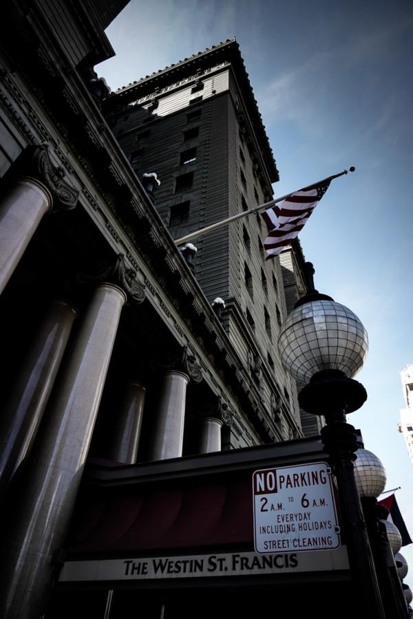 Haunted hotel in San Francisco, California.