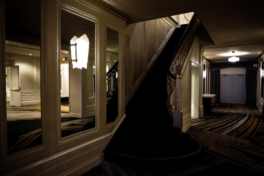 Inside the haunted Westin St. Francis Hotel in San Francisco, California.
