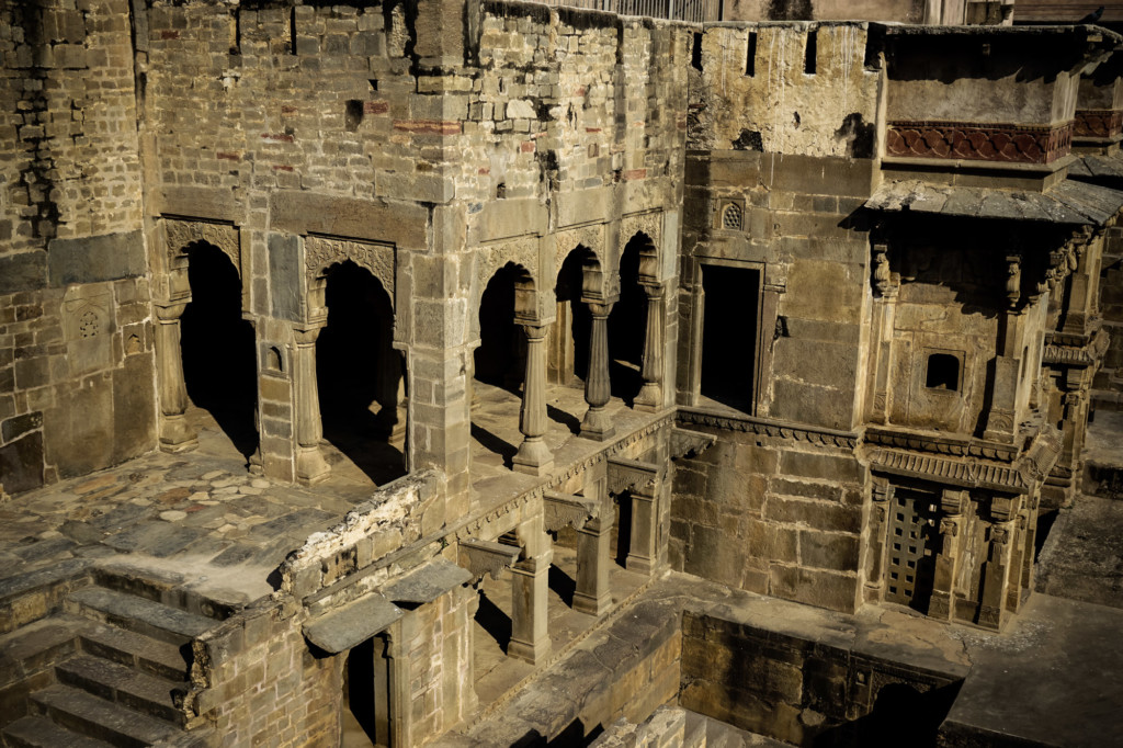 Palace at the haunted Chand Baori Stepwell.