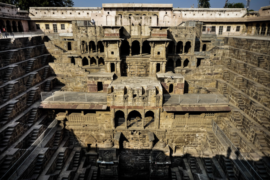 India's haunted Chand Baori stepwell with Palace.