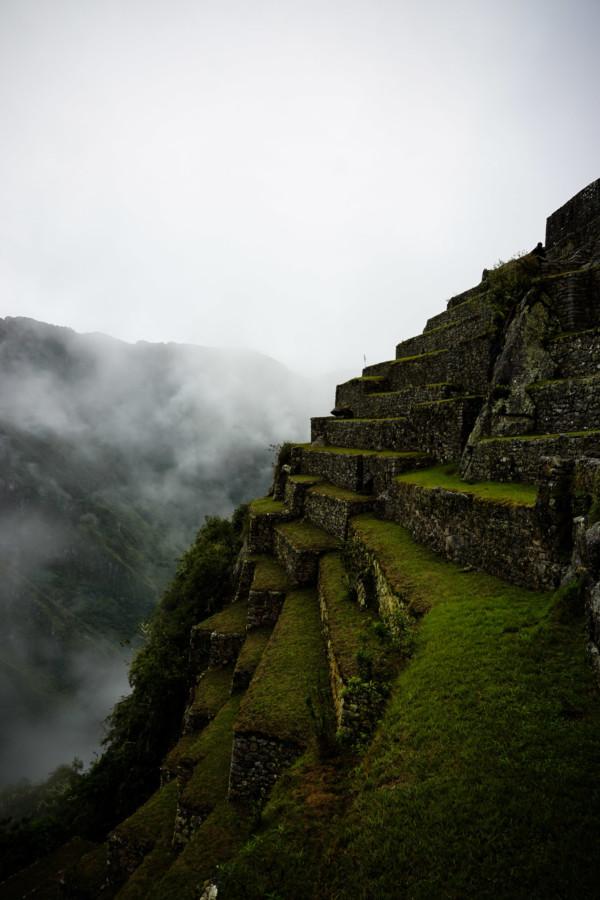 Terraces at Machu Picchu.