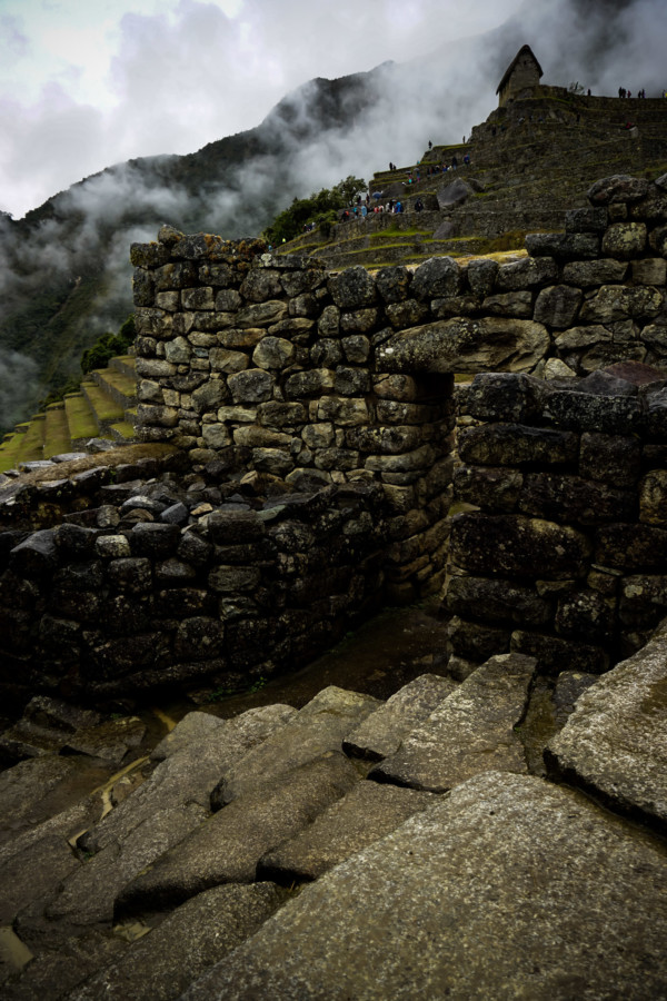 Stairs at Machu Picchu.