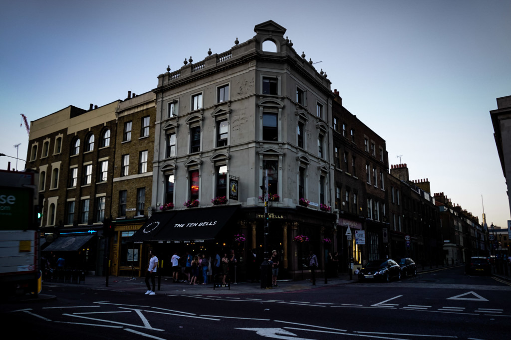 Haunted Ten Bells Pub in London.