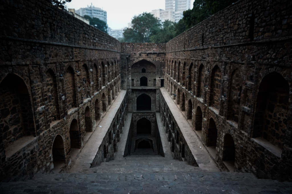 Haunted step well in Delhi.