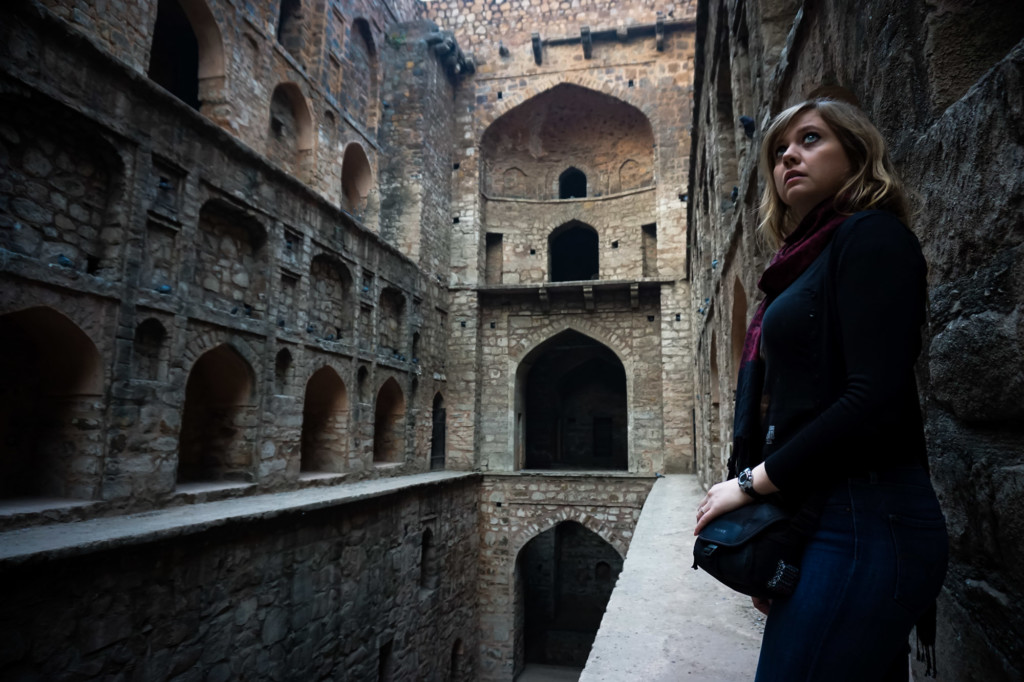 Looking for ghosts at the Agrasen Ki Baoli.