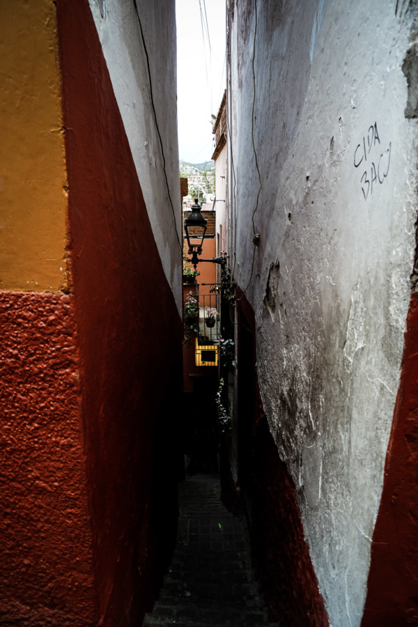 Guanajuato narrow and haunted alley.