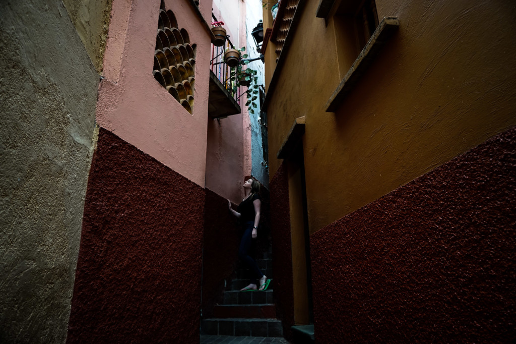 Haunted alley of the kiss in Mexico.