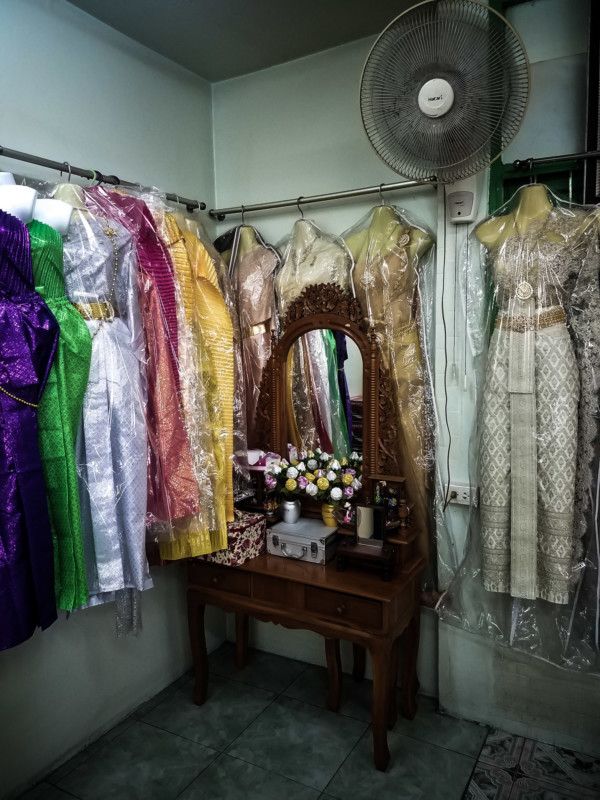 Dresses that have been given to the ghost of Mae Nak.